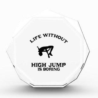 Lovely High Jump DESIGNS Acrylic Award