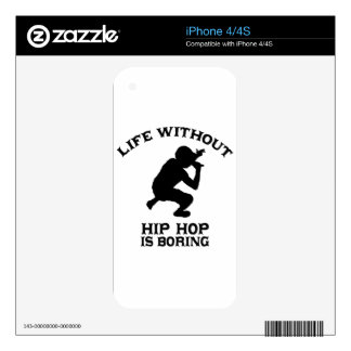 Lovely Hip Hop DESIGNS Skin For The iPhone 4S