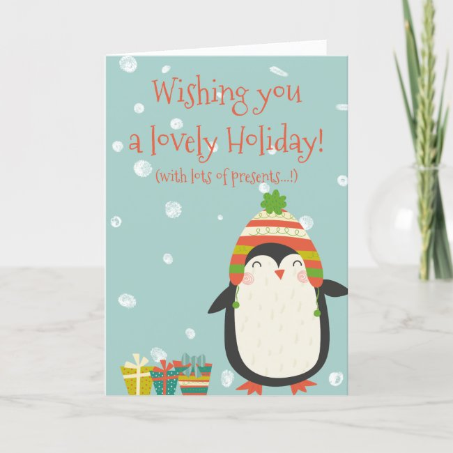 Lovely Holiday! Cute Penguin | Funny Christmas