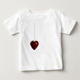 Lovely Holiday Ornament Red Heart Baby T-Shirt