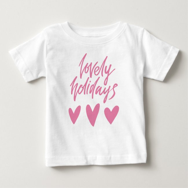 Lovely Holidays   Pink Hearts Christmas
