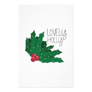 Lovely Holly Custom Stationery