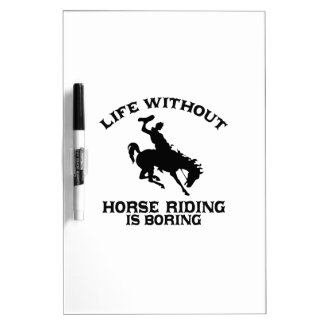 Lovely Horse riding DESIGNS Dry Erase Board