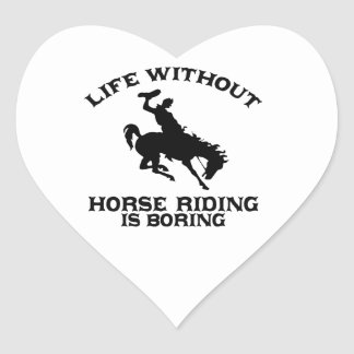 Lovely Horse riding DESIGNS Heart Sticker