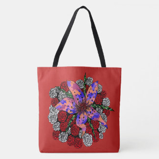 Lovely in Red Tote Bag