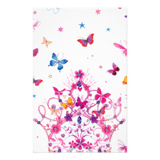 Lovely Infinity Butterfly Stationery