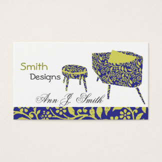 Lovely Interior Design Cute Vintage Floral Chairs Business Card