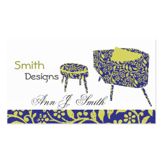 Lovely Interior Design Cute Vintage Floral Chairs Double-Sided Standard Business Cards (Pack Of 100)