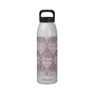 lovely intertwined art nouveau abstract water bottle