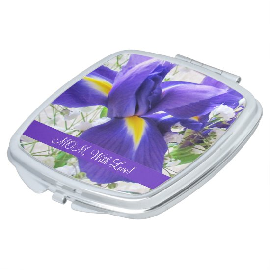 Lovely Iris Compact Mirror
