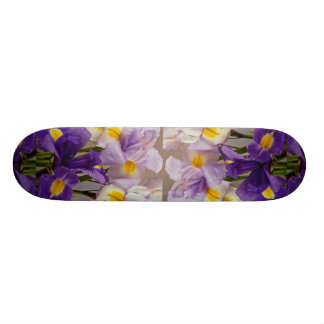 Lovely Iris flowers Custom Skate Board