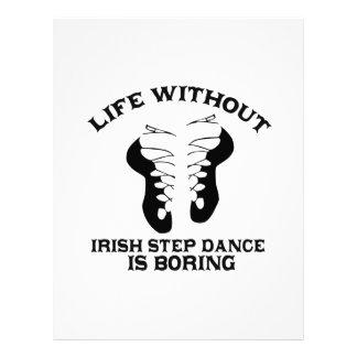 Lovely Irish Step dance DESIGNS Letterhead