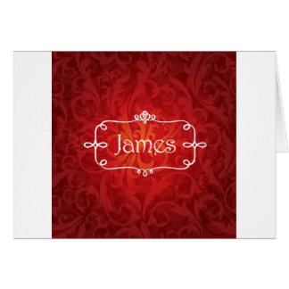 lovely James name designs Card