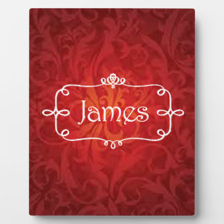 lovely James name designs Plaque