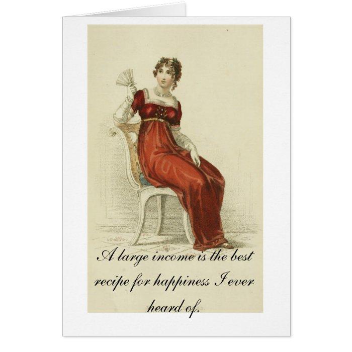 Lovely Jane Austen Card