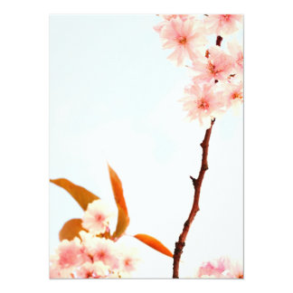 Lovely Japanese cherry blossom 5.5x7.5 Paper Invitation Card