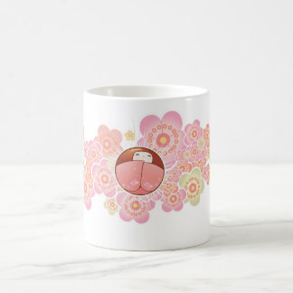Lovely Japanese Style Mug with Kokeshi Doll
