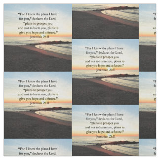 LOVELY JEREMIAH 29:11 SUNRISE PHOTO FABRIC