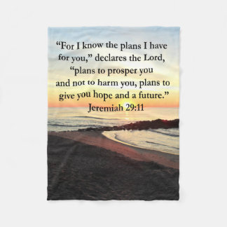 LOVELY JEREMIAH 29:11 SUNRISE PHOTO FLEECE BLANKET