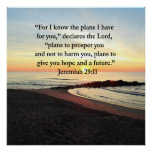 LOVELY JEREMIAH 29:11 SUNRISE PHOTO POSTER