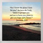 LOVELY JEREMIAH 29:11 SUNRISE PHOTO POSTER