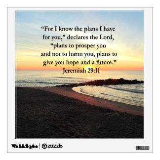 LOVELY JEREMIAH 29:11 SUNRISE PHOTO WALL STICKER