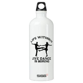 Lovely Jive dance DESIGNS Aluminum Water Bottle