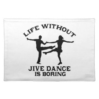 Lovely Jive dance DESIGNS Cloth Placemat