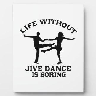 Lovely Jive dance DESIGNS Plaque