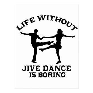 Lovely Jive dance DESIGNS Postcard