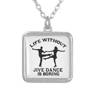 Lovely Jive dance DESIGNS Silver Plated Necklace