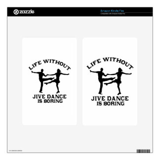 Lovely Jive dance DESIGNS Skins For Kindle Fire