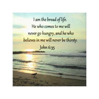 LOVELY JOHN 6:35 SUNRISE PHOTO DESIGN CANVAS PRINT
