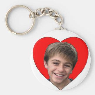 Lovely Jon Basic Round Button Keychain