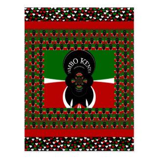 Lovely Kenyan Hearts flag Postcard