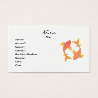 Lovely Koi Business Card