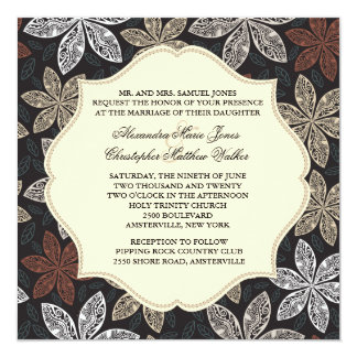 Lovely Lace Blooms Invitation
