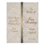 Lovely Lace & Burlap Chic Wedding Program Full Color Flyer