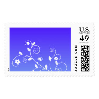 Lovely Lady Blue Blank Custom Postage
