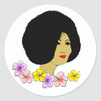 Lovely Lady Classic Round Sticker