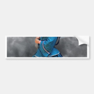 Lovely Lady in blue living in the 1860's Bumper Sticker