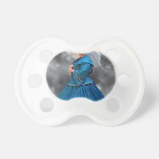Lovely Lady in blue living in the 1860's Pacifier