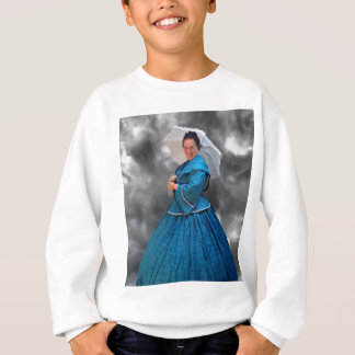 Lovely Lady in blue living in the 1860's Sweatshirt