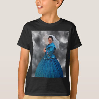 Lovely Lady in blue living in the 1860's T-Shirt