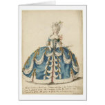 Lovely Lady Marie Antoinette fashion card
