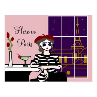 Lovely Lady Mime Postcard