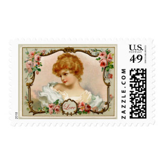 Lovely Lady Vintage Reproduction Postage
