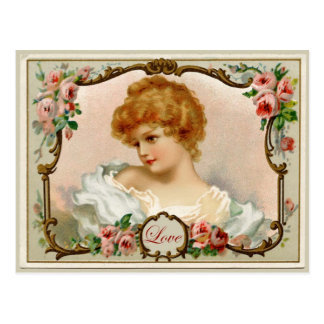 Lovely Lady Vintage Reproduction Postcard