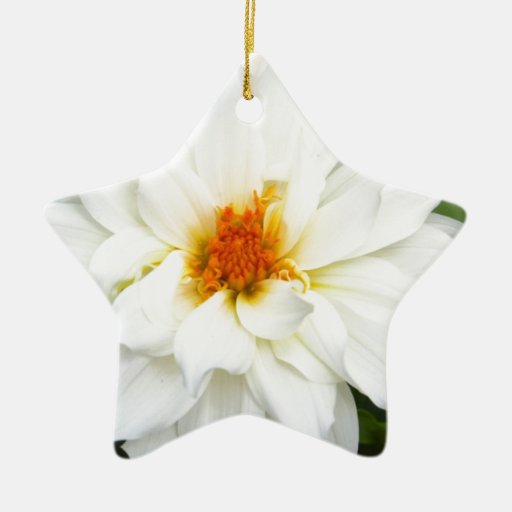 Lovely Lady White Flower Collection Ornaments