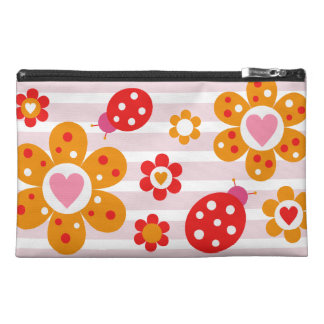 Lovely Ladybird Flowers Cosmetics Bag Travel Accessories Bag